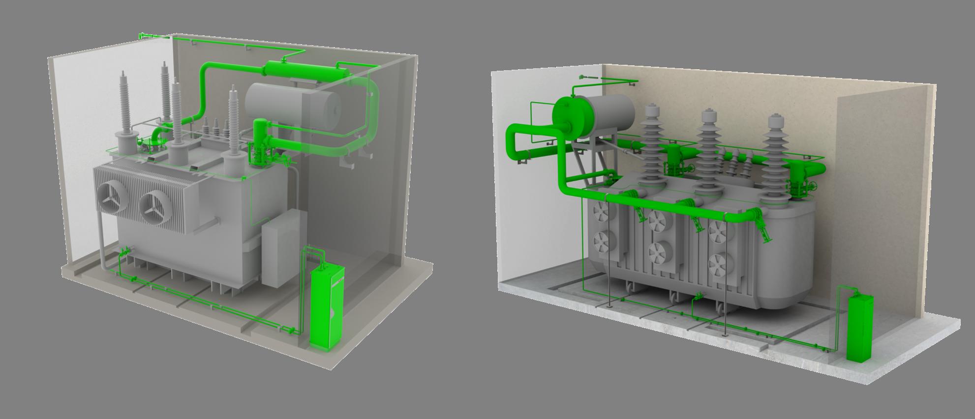 Explosionsschutz Transformator, Brandschutz Transformator, Transformer explosion protection, transformer fire protection, sergi tss_hp_3